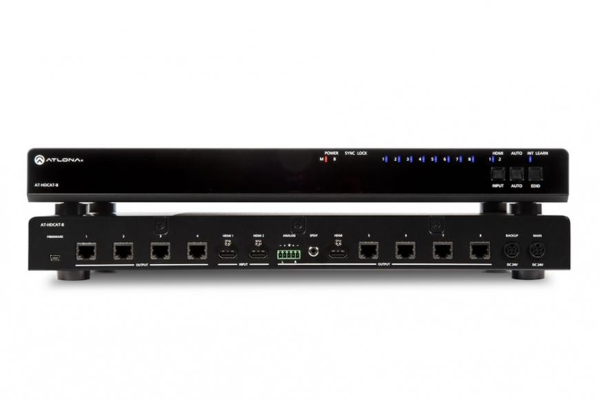 Усилитель-распределитель HD-сигнала по витой паре Atlona AT-HDCAT-8 (8 портов)